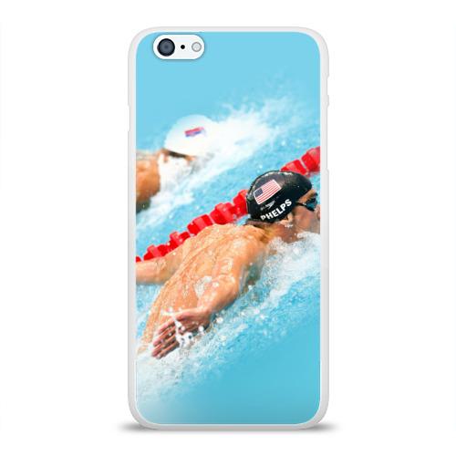 Чехол для Apple iPhone 6Plus/6SPlus силиконовый глянцевый  Фото 01, Michael Phelps