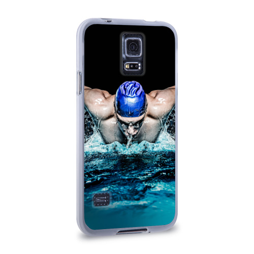 Чехол для Samsung Galaxy S5 силиконовый  Фото 02, Пловец