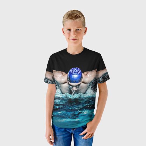 Детская футболка 3D Пловец