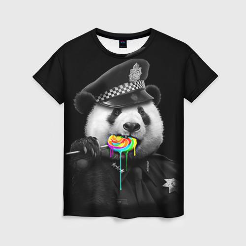 Женская футболка 3D Панда и карамель Фото 01