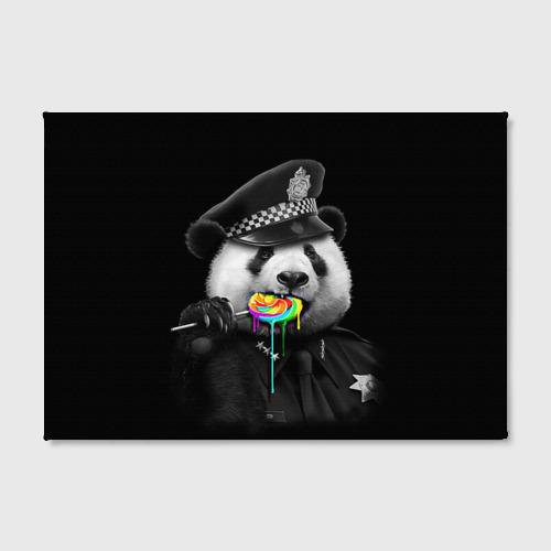 Холст прямоугольный  Фото 02, Панда и карамель