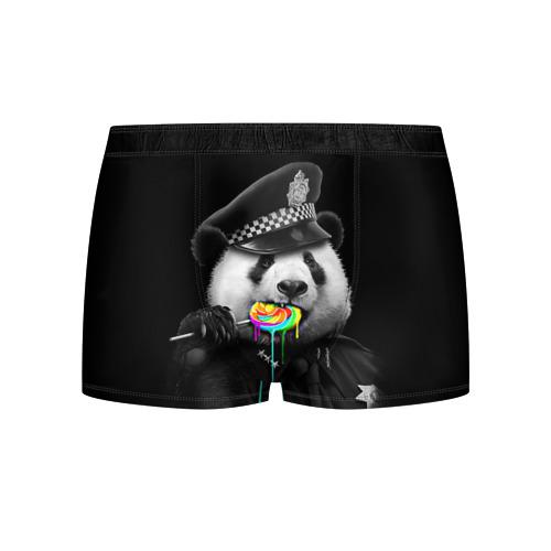 Мужские трусы 3D Панда и карамель Фото 01