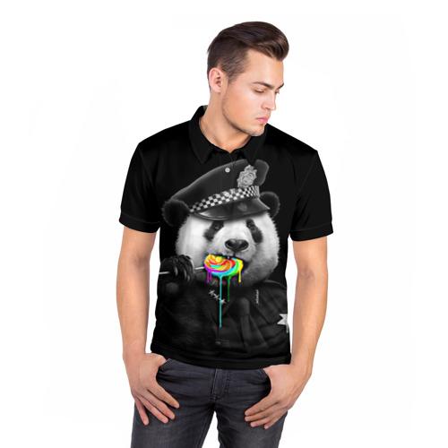 Мужская рубашка поло 3D  Фото 05, Панда и карамель