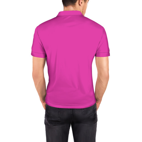 Мужская рубашка поло 3D  Фото 04, Пинк