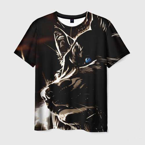 Мужская футболка 3D Anime Wolf