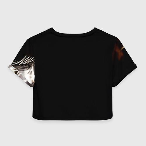 Женская футболка 3D укороченная  Фото 02, Anime Wolf