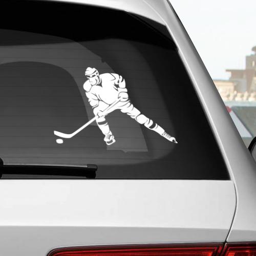 Наклейка на автомобиль Хоккеист Фото 01