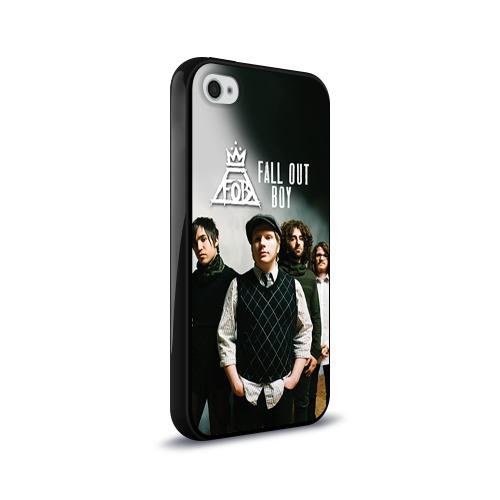 Чехол для Apple iPhone 4/4S силиконовый глянцевый  Фото 02, Fall out boy