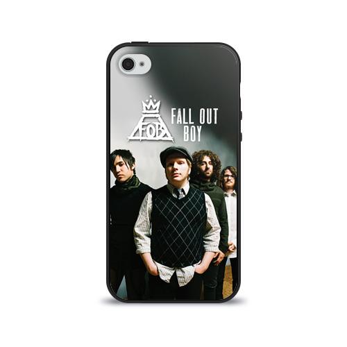 Чехол для Apple iPhone 4/4S силиконовый глянцевый  Фото 01, Fall out boy