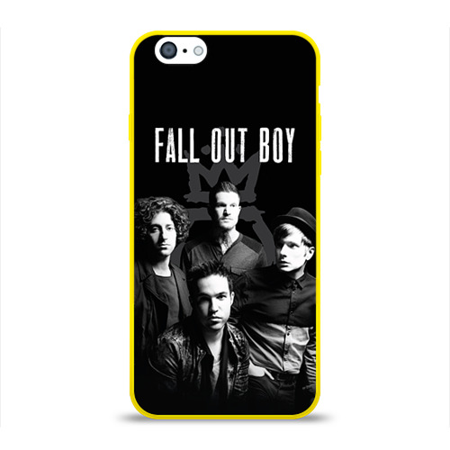Чехол для Apple iPhone 6 силиконовый глянцевый Группа Fall out boy от Всемайки
