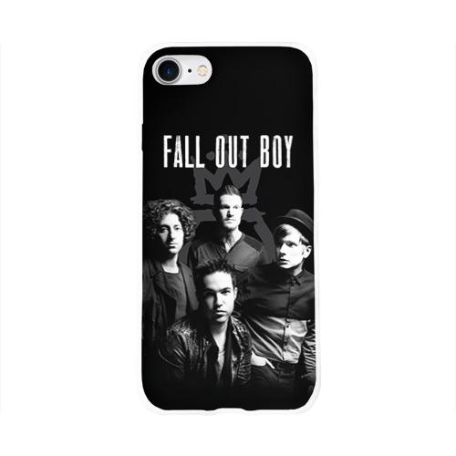 Чехол для Apple iPhone 8 силиконовый глянцевый  Фото 01, Группа Fall out boy