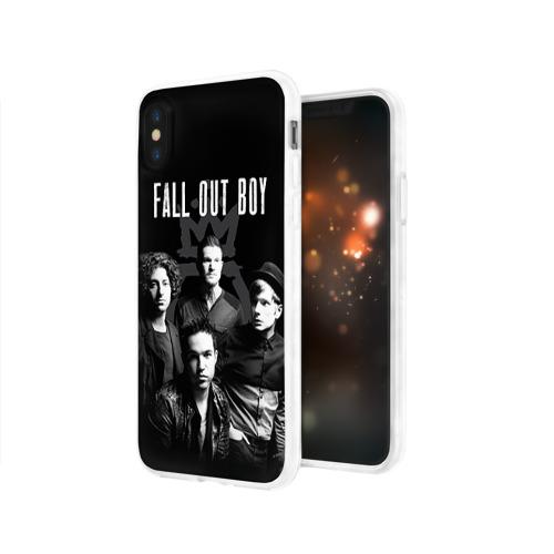 Чехол для Apple iPhone X силиконовый глянцевый  Фото 03, Группа Fall out boy
