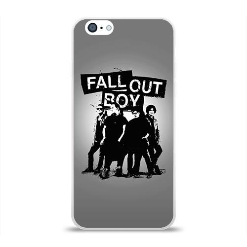 Чехол для Apple iPhone 6 силиконовый глянцевый  Фото 01, Fall out boy
