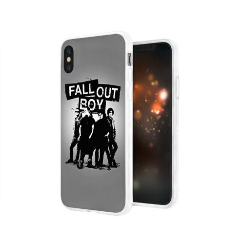 Чехол для Apple iPhone X силиконовый глянцевый  Фото 03, Fall out boy