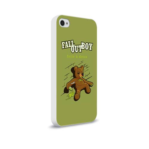 Чехол для Apple iPhone 4/4S soft-touch  Фото 02, FoB мишка