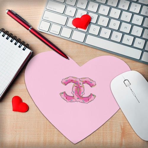 Коврик для мыши сердце  Фото 02, Модный пончик