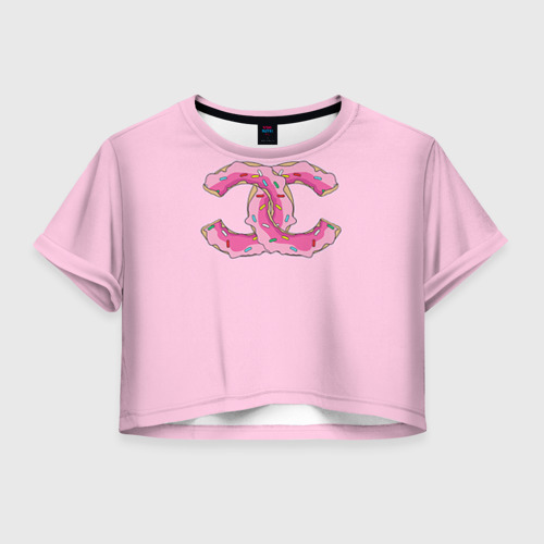 Женская футболка Cropp-top Модный пончик