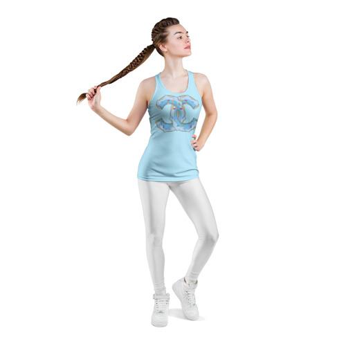 Женская майка 3D спортивная  Фото 05, Модный пончик