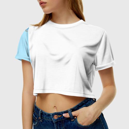 Женская футболка 3D укороченная  Фото 01, Модный пончик