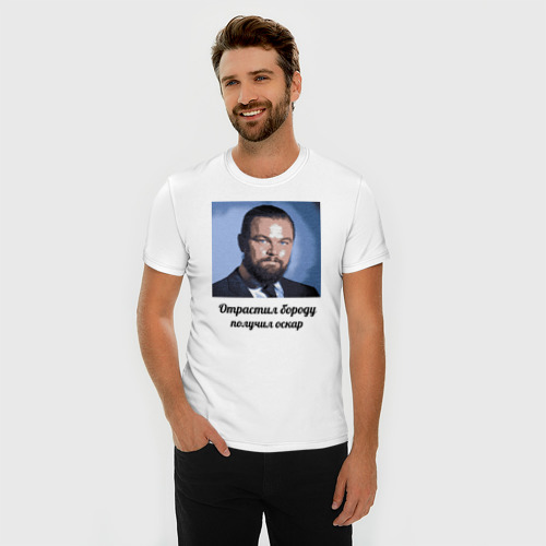 Мужская футболка премиум  Фото 03, Дикаприо и оскар