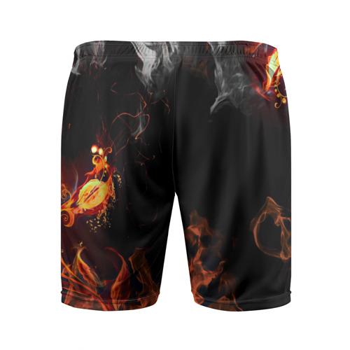 Мужские шорты 3D спортивные  Фото 02, Огонь