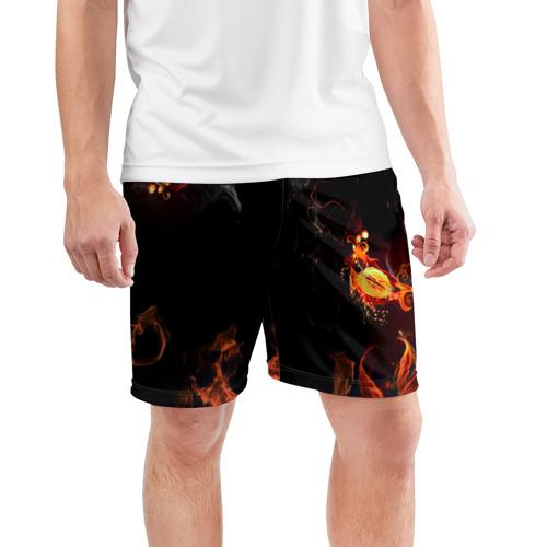 Мужские шорты 3D спортивные  Фото 03, Огонь