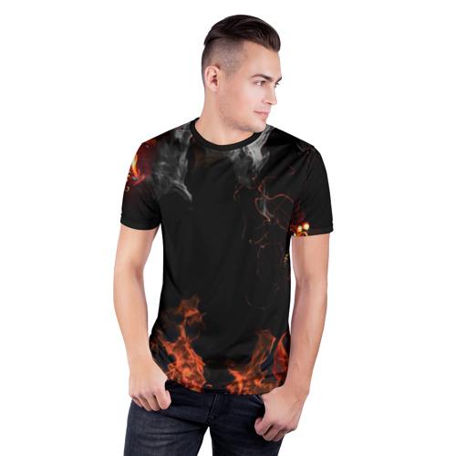 Мужская футболка 3D спортивная  Фото 03, Огонь