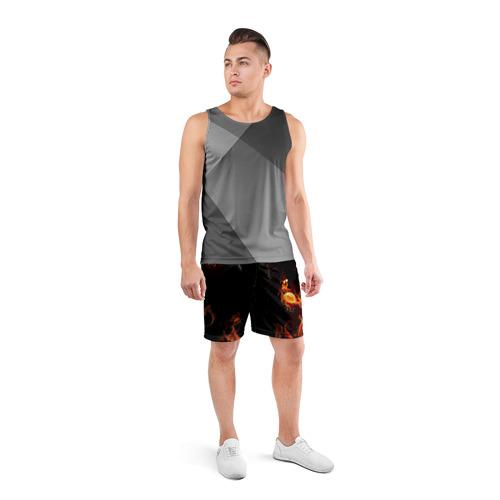 Мужские шорты 3D спортивные  Фото 04, Огонь