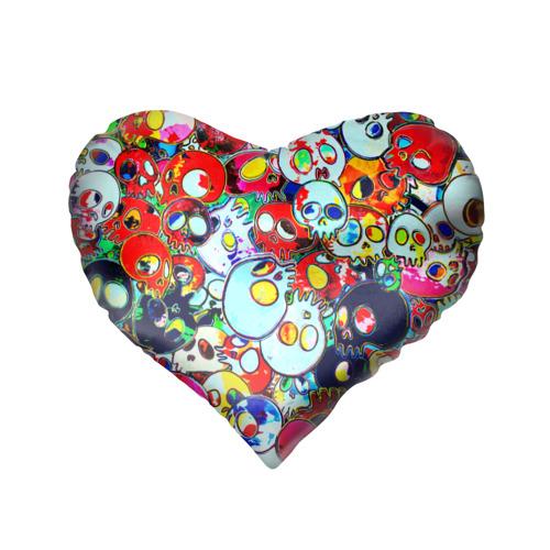 Подушка 3D сердце  Фото 02, Черепа