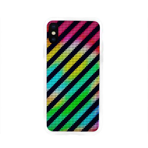 Чехол для Apple iPhone X силиконовый глянцевый  Фото 01, Полосы