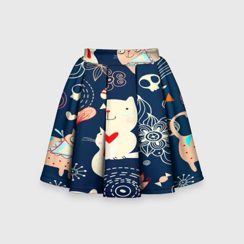 Детская юбка-солнце 3D Котятки
