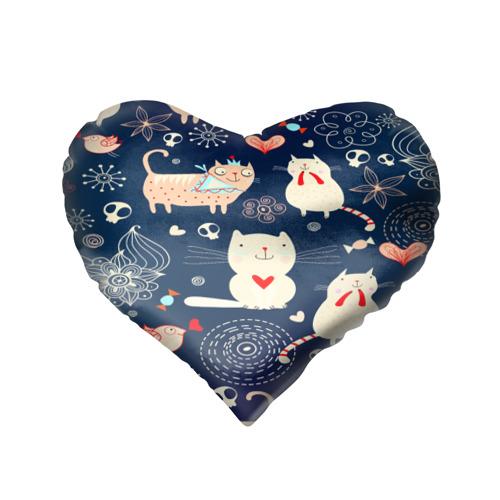 Подушка 3D сердце  Фото 02, Котятки