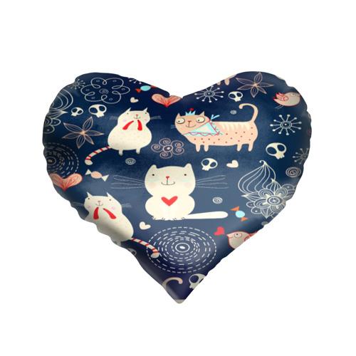 Подушка 3D сердце  Фото 01, Котятки