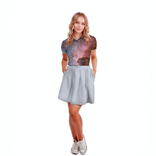 Женская рубашка поло 3D  Фото 04, Космос
