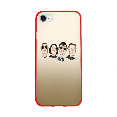 Чехол для Apple iPhone 8 силиконовый глянцевый Arctic Monkeys 1 Фото 01