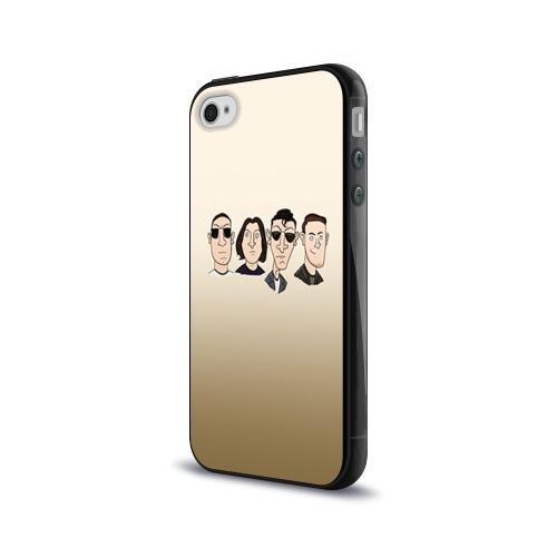 Чехол для Apple iPhone 4/4S силиконовый глянцевый Arctic Monkeys 1 Фото 01
