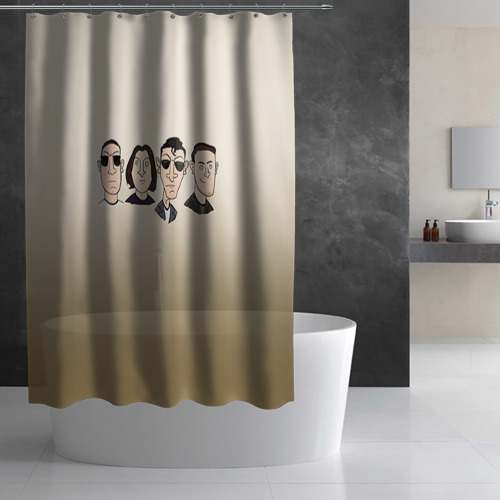 Штора 3D для ванной Arctic Monkeys 1 Фото 01