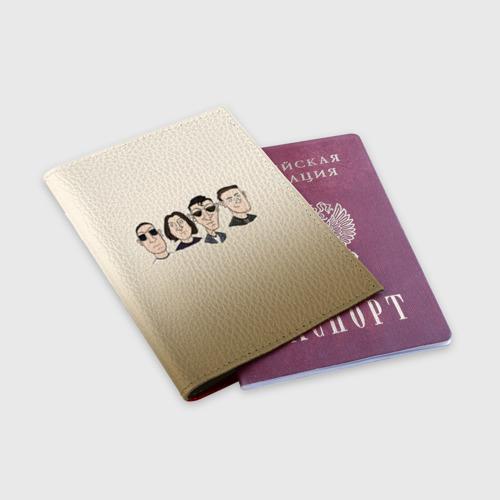 Обложка для паспорта матовая кожа Arctic Monkeys 1 Фото 01