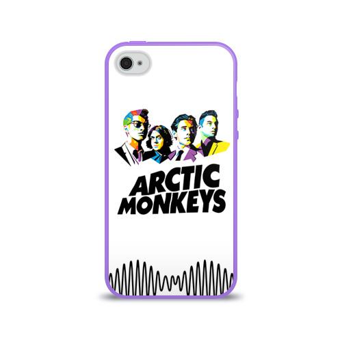 Чехол для Apple iPhone 4/4S силиконовый глянцевый Arctic Monkeys 2 Фото 01