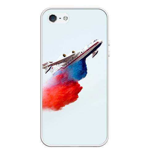 Чехол силиконовый для Телефон Apple iPhone 5/5S Самолет Мчс 1