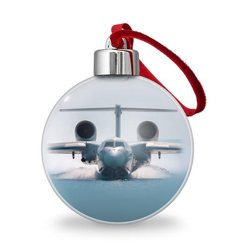 Ёлочный шар Самолет Мчс 2