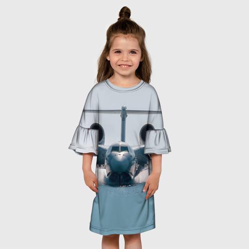 Детское платье 3D  Фото 01, Самолет Мчс 2