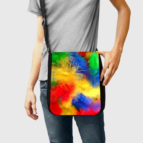 Сумка через плечо  Фото 02, Цветные перья