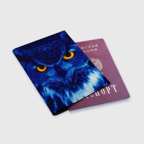Обложка для паспорта матовая кожа  Фото 03, ПаукСова