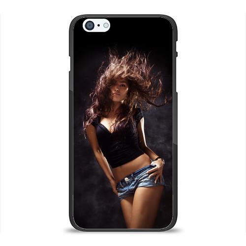 Чехол для Apple iPhone 6/6S Plus силиконовый глянцевый Страстная девушка от Всемайки