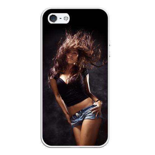 Чехол силиконовый для Телефон Apple iPhone 5/5S Страстная девушка от Всемайки