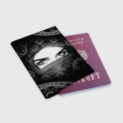 Обложка для паспорта матовая кожа  Фото 03, Восточная девушка