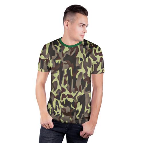 Мужская футболка 3D спортивная  Фото 03, Камуфляжная форма