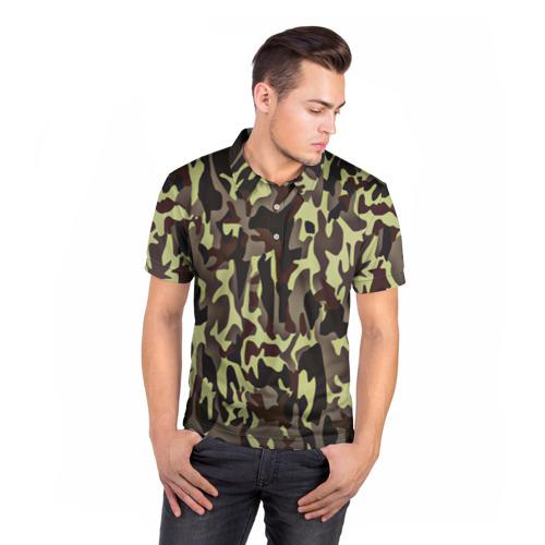 Мужская рубашка поло 3D Камуфляжная форма Фото 01