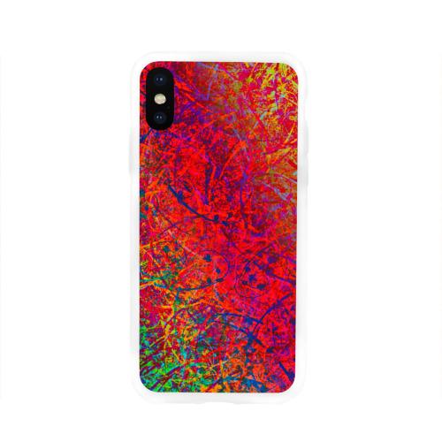 Чехол для Apple iPhone X силиконовый глянцевый  Фото 01, Bloom